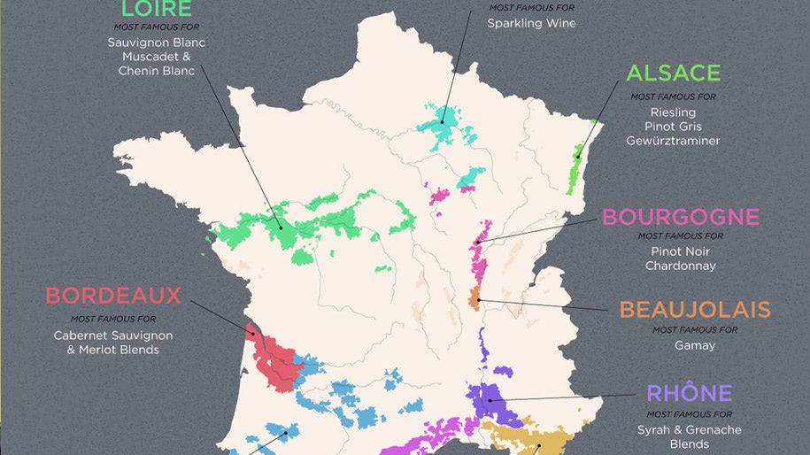 Nơi sản xuất Rượu vang Pháp cao cấp