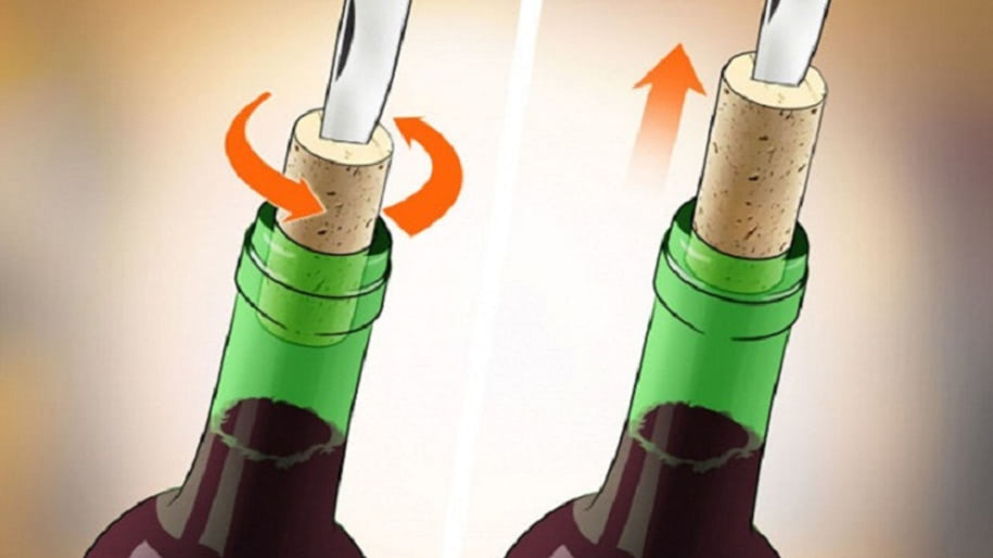 Cách mở nắp rượu vang bằng dao bỏ túi