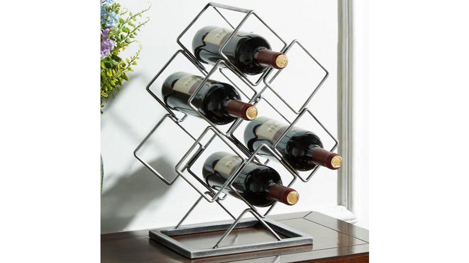 Giá để 6 chai rượu trên bàn