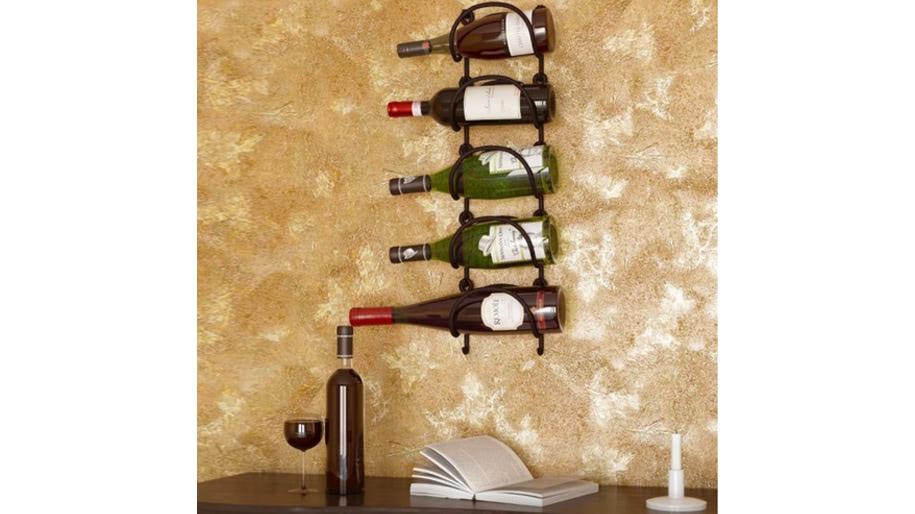 Giá đựng chai rượu bằng sắt rèn