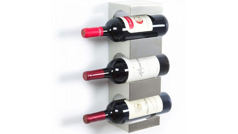 Kệ đựng rượu treo tường bằng thép