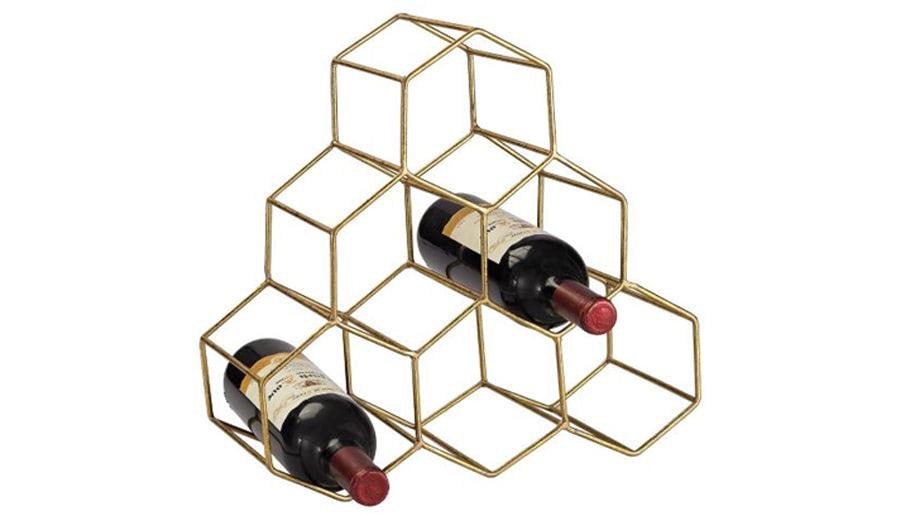 Giá để rượu hình lục giác